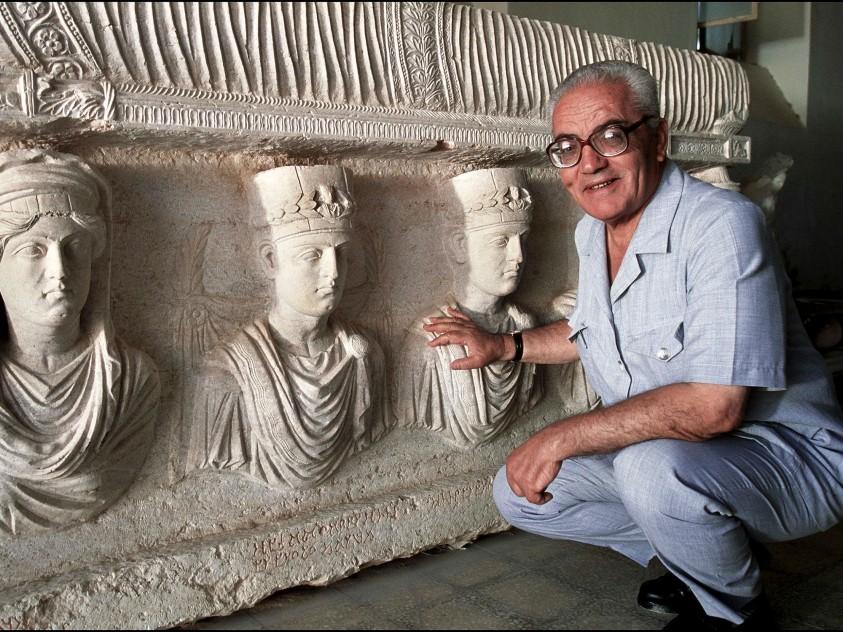 Khaled al-Asaad, ex direttore del sito archeologico di Palmira, decapitato da un gruppo jihadista il 18 agosto 2015.