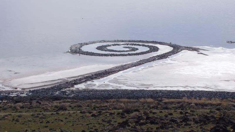 "Robert Smithson, ""The Spiral Jetty"", Great Lake, 1970"