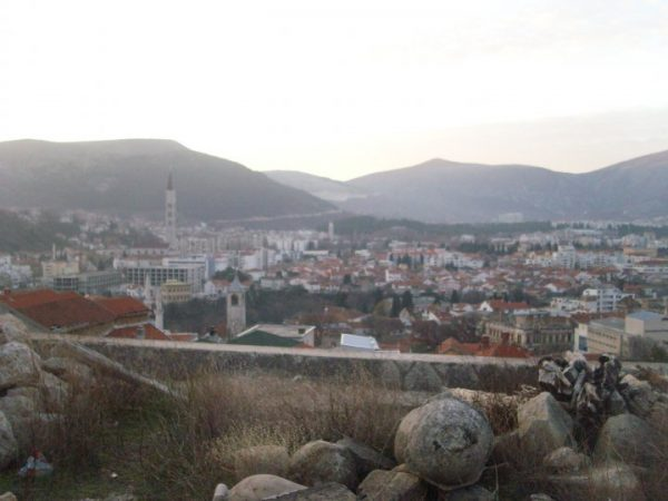 View of Mostar from the Orthodox Cathedral - Photo by Sara Gvero - All Rights Reserved
